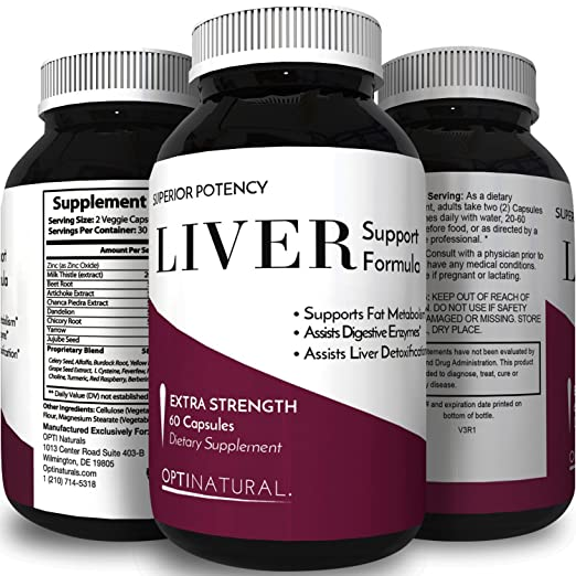 Herbal Liver Detox Cleanse For Women & Men – Liver Support Supplement to Cleanse & Detox with Milk Thistle + Dandelion + Artichoke for Liver Detoxification + Improve Digestion – Griffith Natural