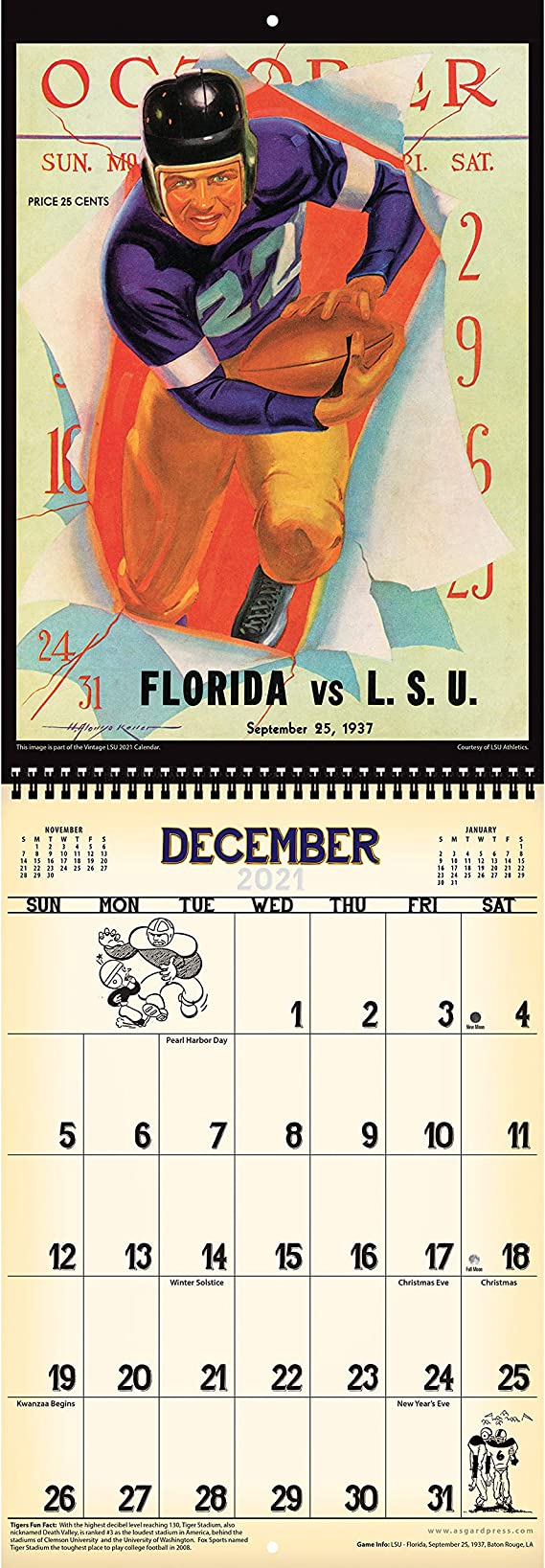 Amazon.: 2021 Vintage LSU Tigers Football Calendar : Office