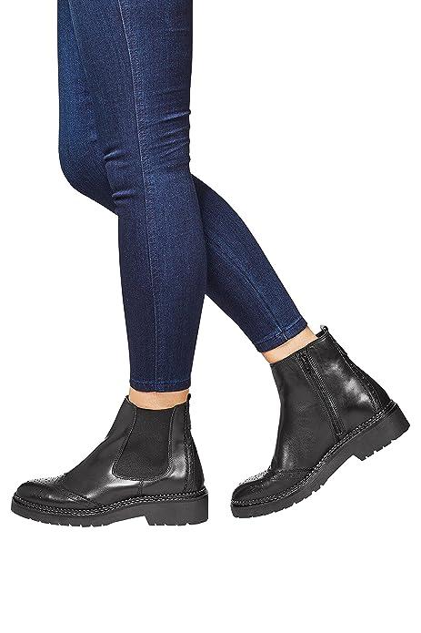 next Mujer Botas Botines Estilo Chelsea De Piel Suela Gruesa Con Tacos: Amazon.es: Zapatos y complementos