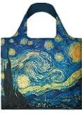 LOQI Museum Vincent Van Gogh the Starry Sky Reusable Shopping Bag,Blue