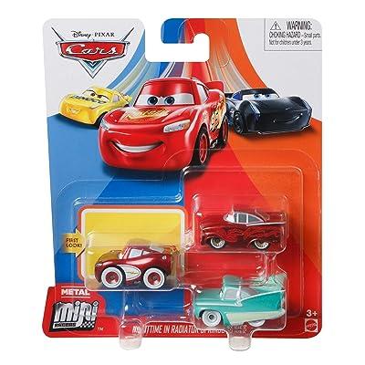 Disney Cars Mini Racers 'Nighttime in Radiator Springs' 3-Pack Cruisin' Lighting McQueen, Red Ramone, Flo: Toys & Games