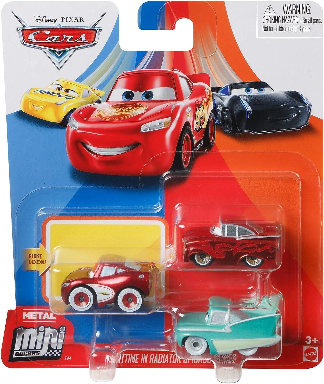 Disney Pixar Cars - Mini Racers 3 Pack - FLO, Red Ramone and Cruisin Lightning Mcqueen