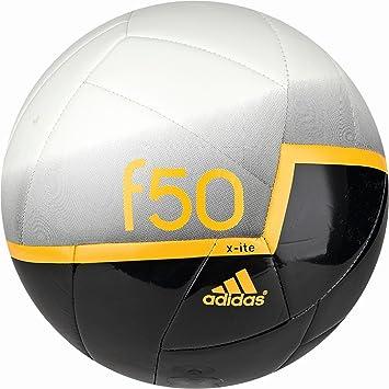 adidas G91051 F50 - Balón de fútbol (talla 5), color blanco, negro ...