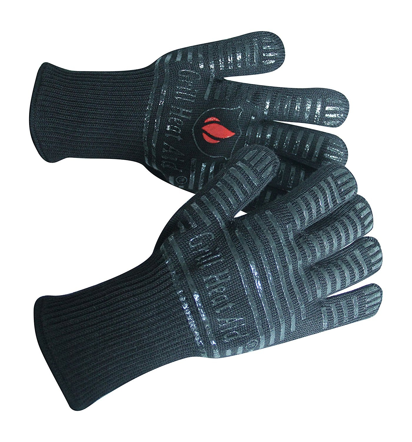 "BBQ Gloves Extreme Heat Resistant for Baking, Smoking, Cooking, Grilling, Barbecue, Fireplace, Indoor/Outdoor Camping – More Flexibility in Your Kitchen Than Oven Mitts, Protect Up to 932°F, 14"" Long"