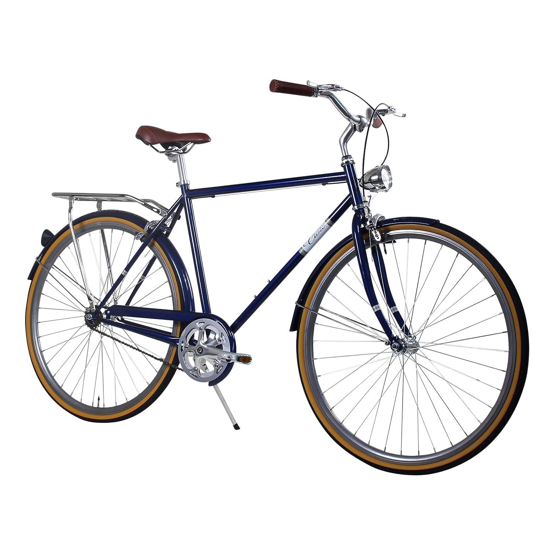Zycle Fix 58 cmバイク固定ギアメンズCivic Cityシリーズ固定ギア自転車 – Navy B01N6RZYBU