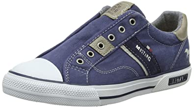 Mustang Unisex-Kinder 5046-401-800 Slip on Sneaker, Blau (Dunkelblau), 40 EU