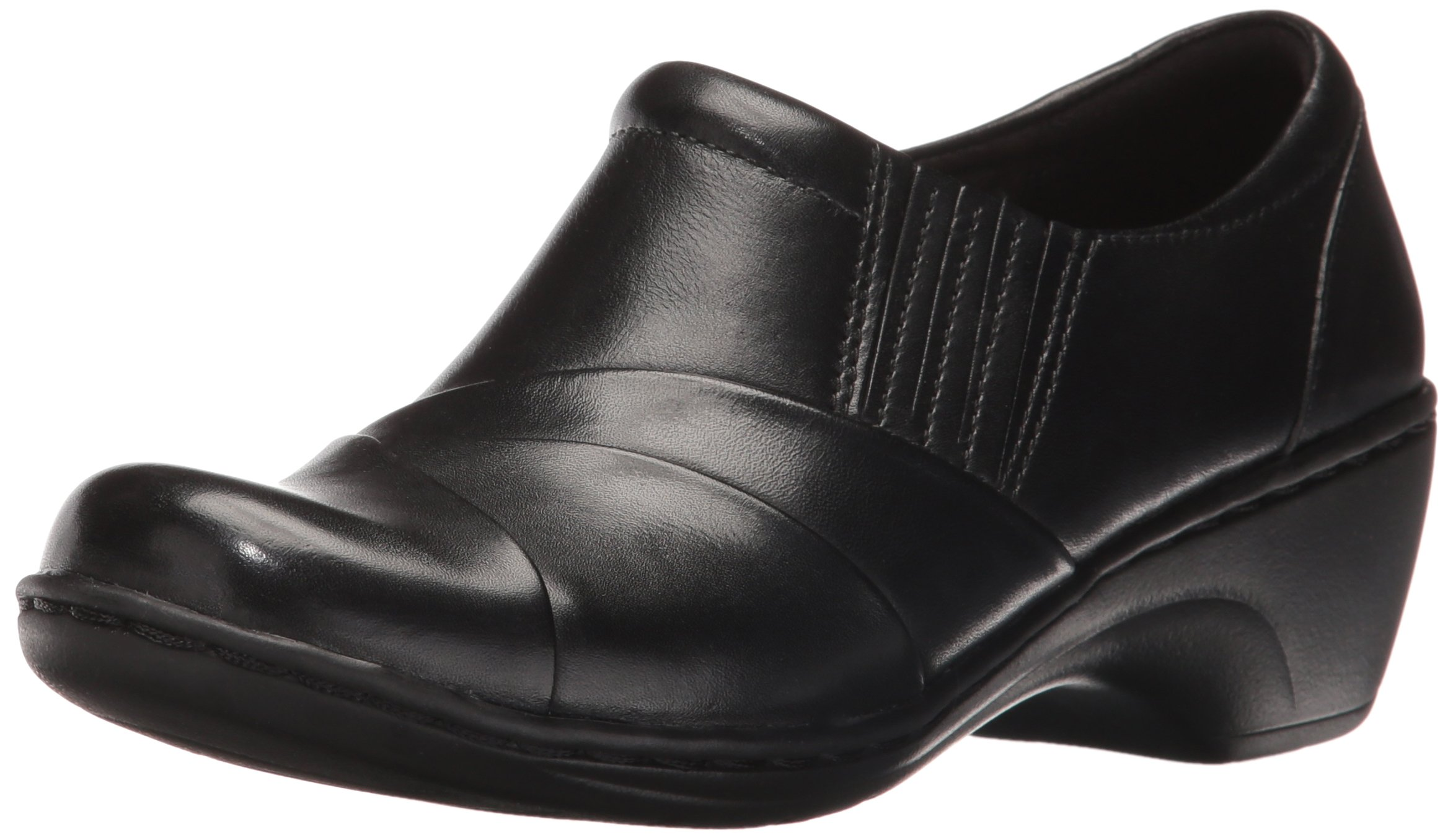 CLARKS Women's Channing Essa Slip-on Loafer, Black, 10 M US by CLARKS