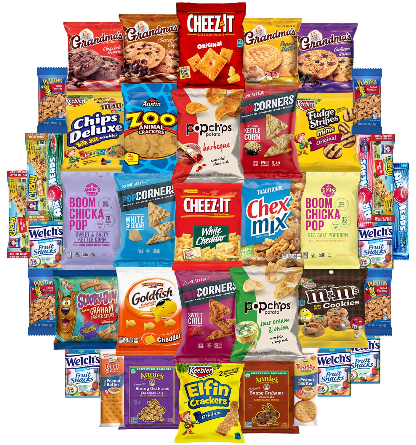 Snack Chest Snacks Care Package Gift Assortment Sampler Mixed Bars, Cookies, Chips, Candy for Office, Military, College, Meetings, Schools, Friends & Family (40 Count) by Snack Chest (Image #2)