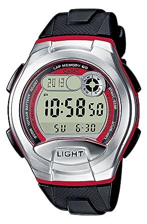 CASIO W-752-4BVEF - Reloj digital de cuarzo con correa de cuero para mujer, color negro: Amazon.es: Relojes