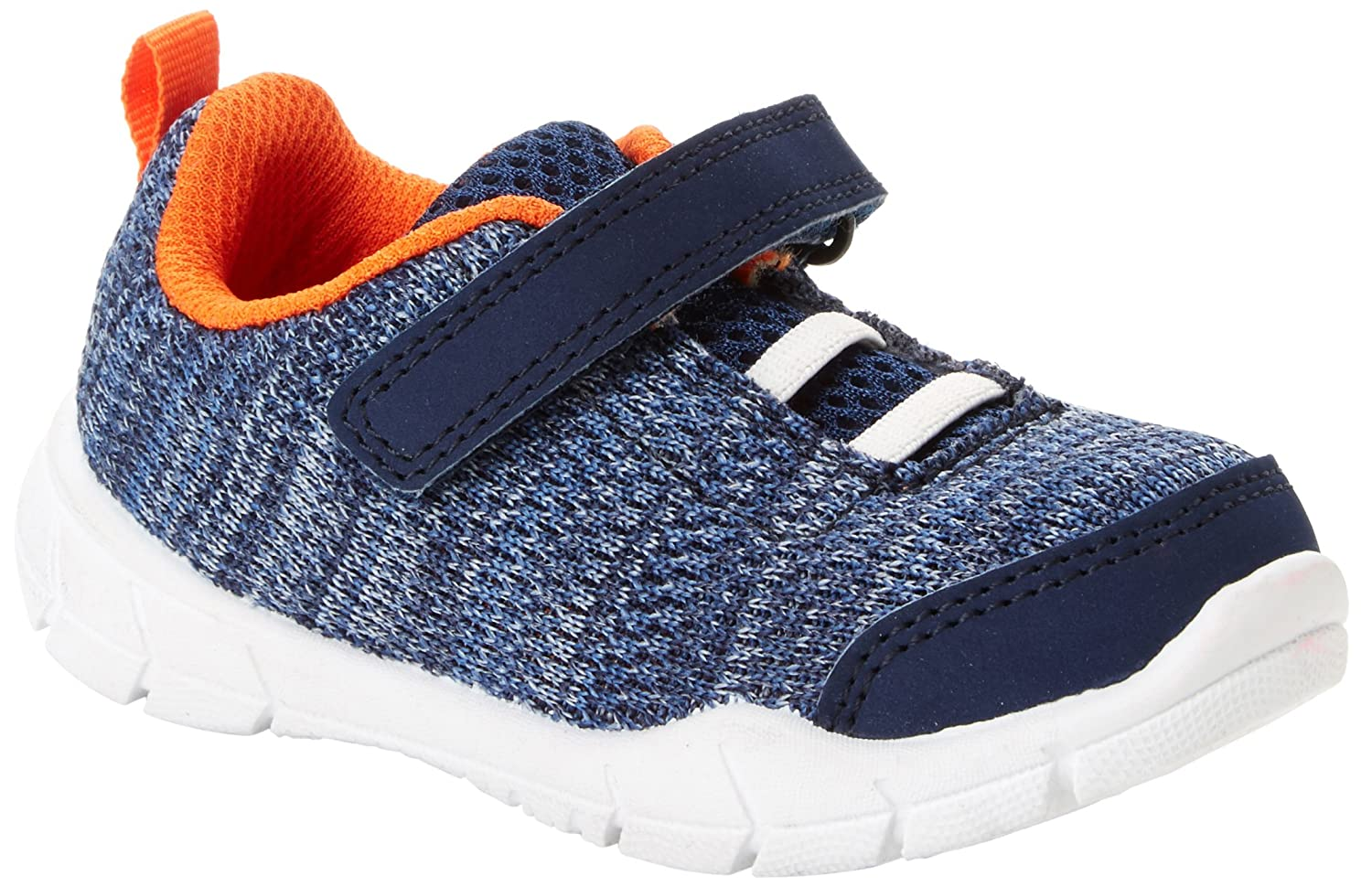 Simple Joys by Carter's Kids' Knitted Unisex Athletic Sneaker (Slip-on Shoe with Velcro Straps) Simple Joys by Carter's JODYNN-BJR