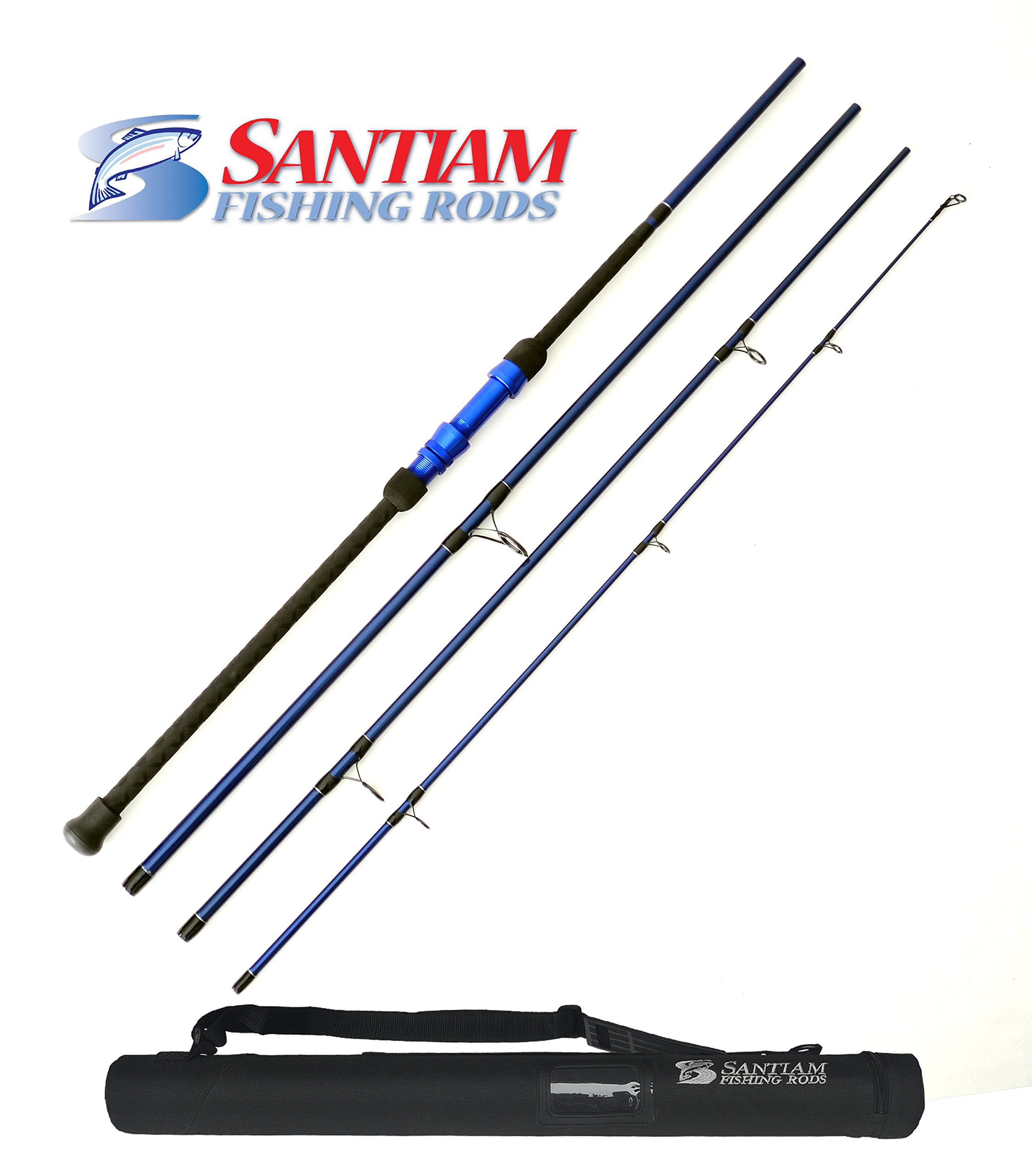 Santiam Fishing Rods Travel Rod 4 Piece 12' 17-40lb Surf Rod by Santiam Fishing Rods
