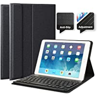"""feelkaeu iPad 2018 iPad 2017 iPad Air 1(2013) iPad Air 2(2014) iPad Pro 9.7""""(2016) Funda con Teclado Bluetooth, iPad…"""