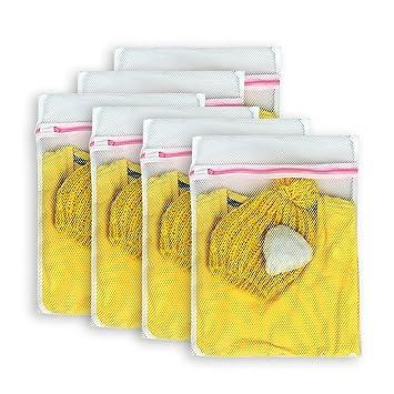 Amazon.com: aimto Juego de 6 de lavandería de malla bolsas ...