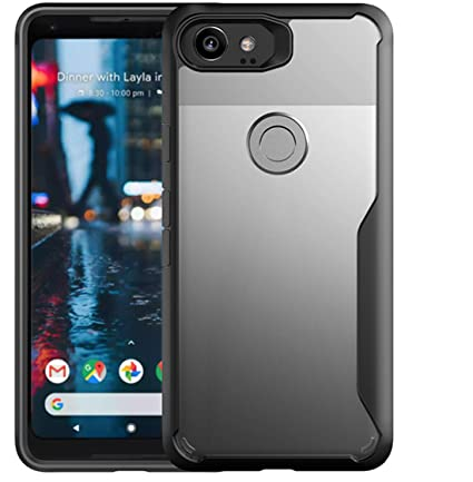 promo code ddfb7 74432 Bounceback ® Robust Series Google Pixel 2 XL Cover Shock Proof Anti Slip  Clear Transparent Soft TPU Back Cover Case for Google Pixel 2 XL (Charcoal  ...