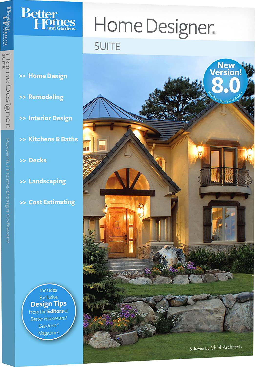 good home designs. Amazon com  Better Homes and Gardens Home Designer Suite 8 0 OLD VERSION Chief Architect Software