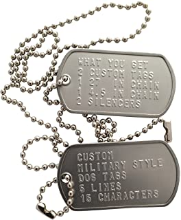 amazon com customized military dog tags stainless steel dog tags