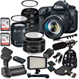 Canon EOS 7D Mark II 20.2MP CMOS Digital SLR Camera with Canon EF-S 18-55mm f/3.5-5.6 IS STM Lens + Tamron AF 70-300mm f/4-5.6 Lens + Canon EF 50mm f/1.8 STM Lens