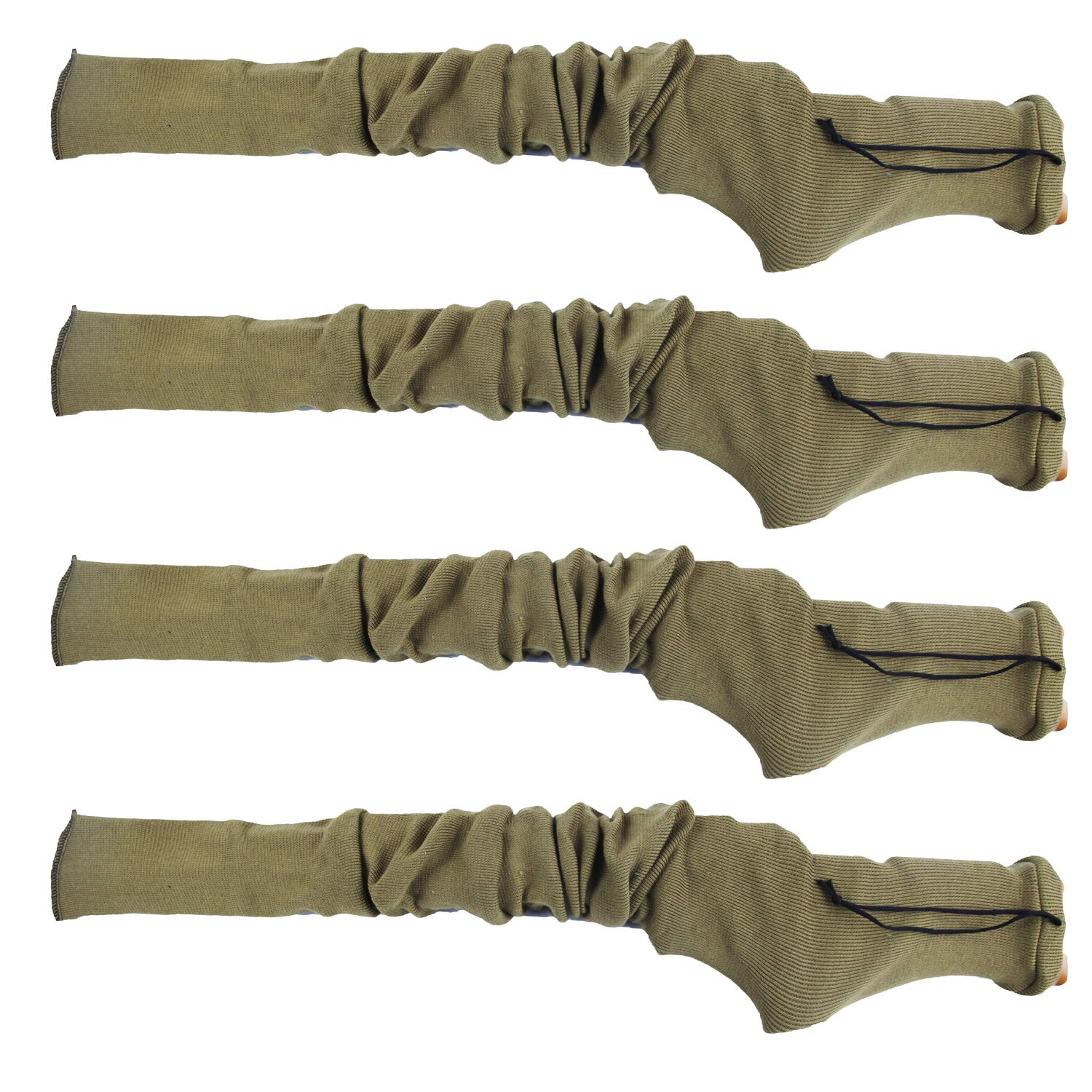 GUGULUZA Silicone Treated Knit Gun Socks 52'' for Rifles Shotgun (Khaki - 4 Pack) by GUGULUZA