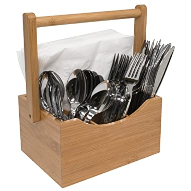 Sorbus Bamboo Utensil Caddy, Wood