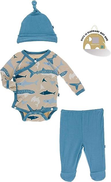 KicKee Pants Kimono Newborn Gift Set with Elephant Box