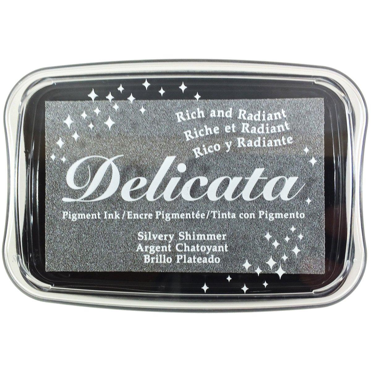 Delicata Shimmer Delicate Ink Pad, Silver EFCO DE-00192
