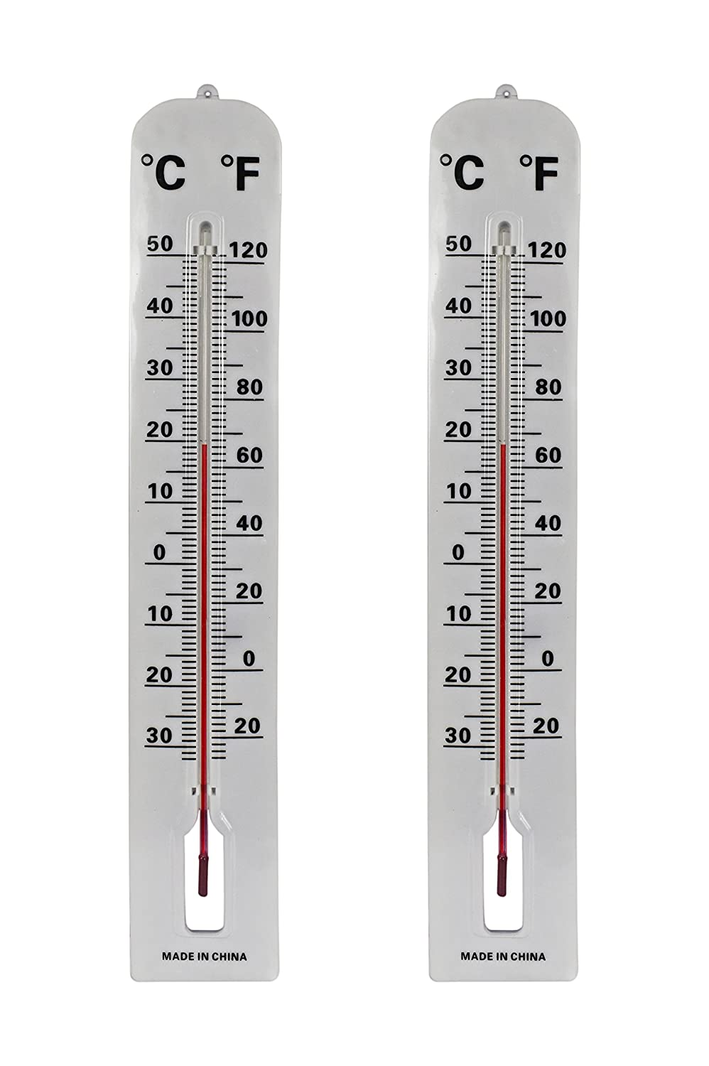 Black Duck Brand Set of 2 Jumbo Wall Indoor/Outdoor Thermometers! Includes Mounting Hardware! 16