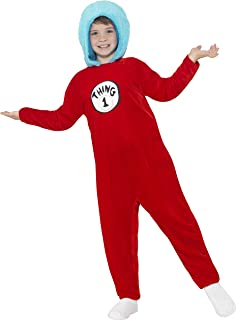Smiffyu0027s Official Dr Seuss Thing 1 Or Thing 2 Costume (Medium)  sc 1 st  Amazon UK & Dr Seuss Thing 1 Thing 2 Kids Costume Funny Dr Seuss Costume Kids ...