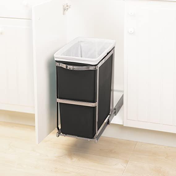 New Under Cabinet Garbage Cans with Lids