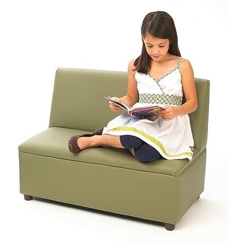 Brand New World Modern Casual Enviro-Child Upholstery Sofa – Sage