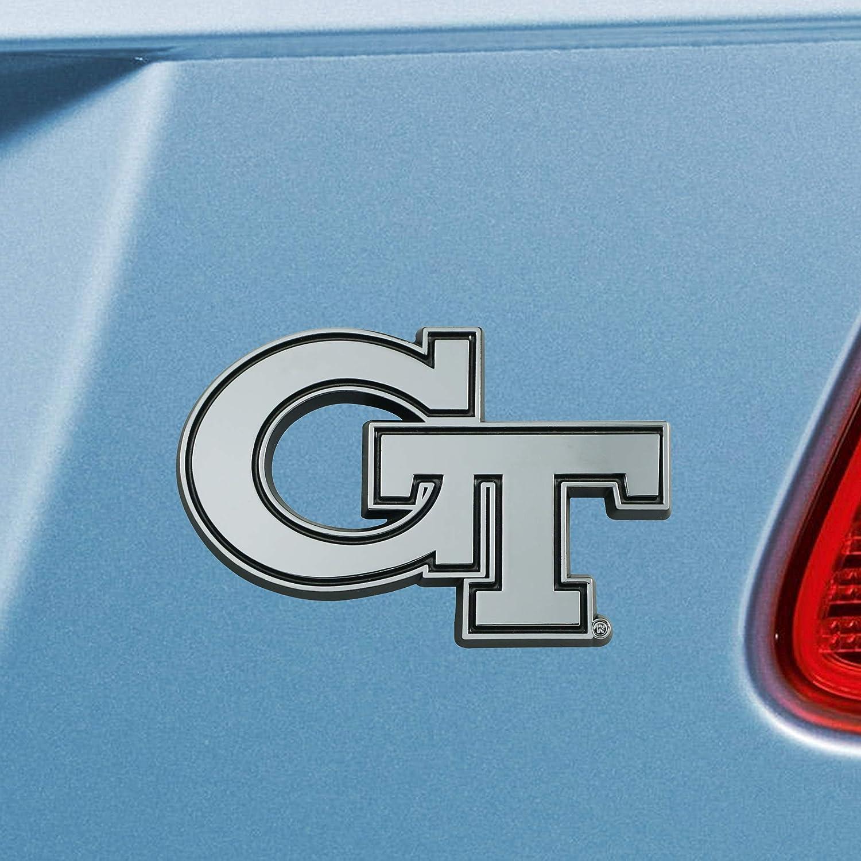 One Sized FANMATS NCAA Georgia Tech Chrome Emblemchrome Emblem Team Colors
