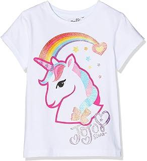 e2699c7855dd61 JoJo Siwa Girls Selfie T-Shirt White  Amazon.co.uk  Clothing