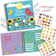 Baby Memory Book for Twins - The Only Baby Keepsake Journal for Documenting Your Twin's First Year! - Great Gift That Includes Stickers, Family Tree, Holidays, Letters from Mom & Dad and Much More!