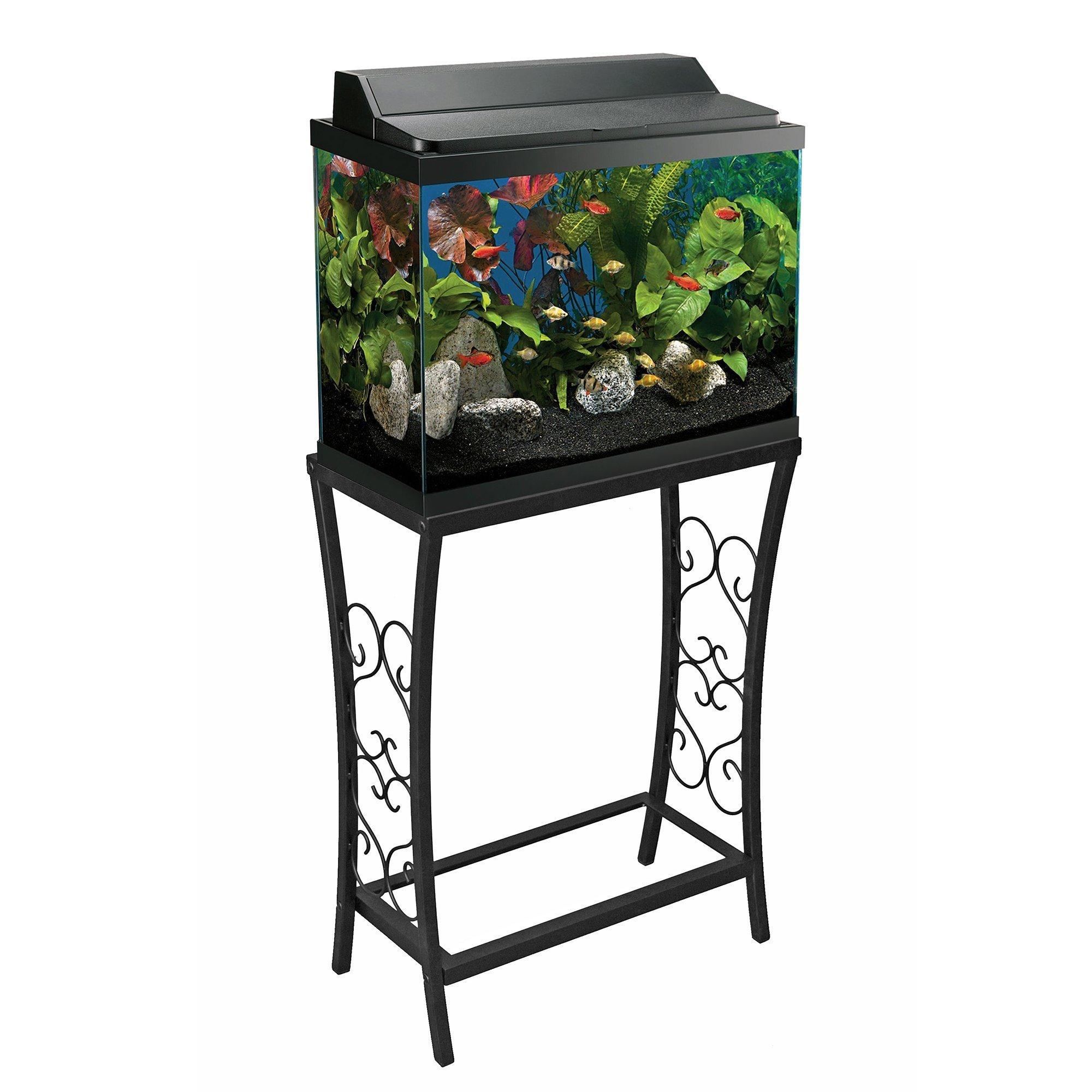 Aquatic Fundamentals AMZ-102101 Aquarium Stand 10 Gallon Black by Aquatic Fundamentals