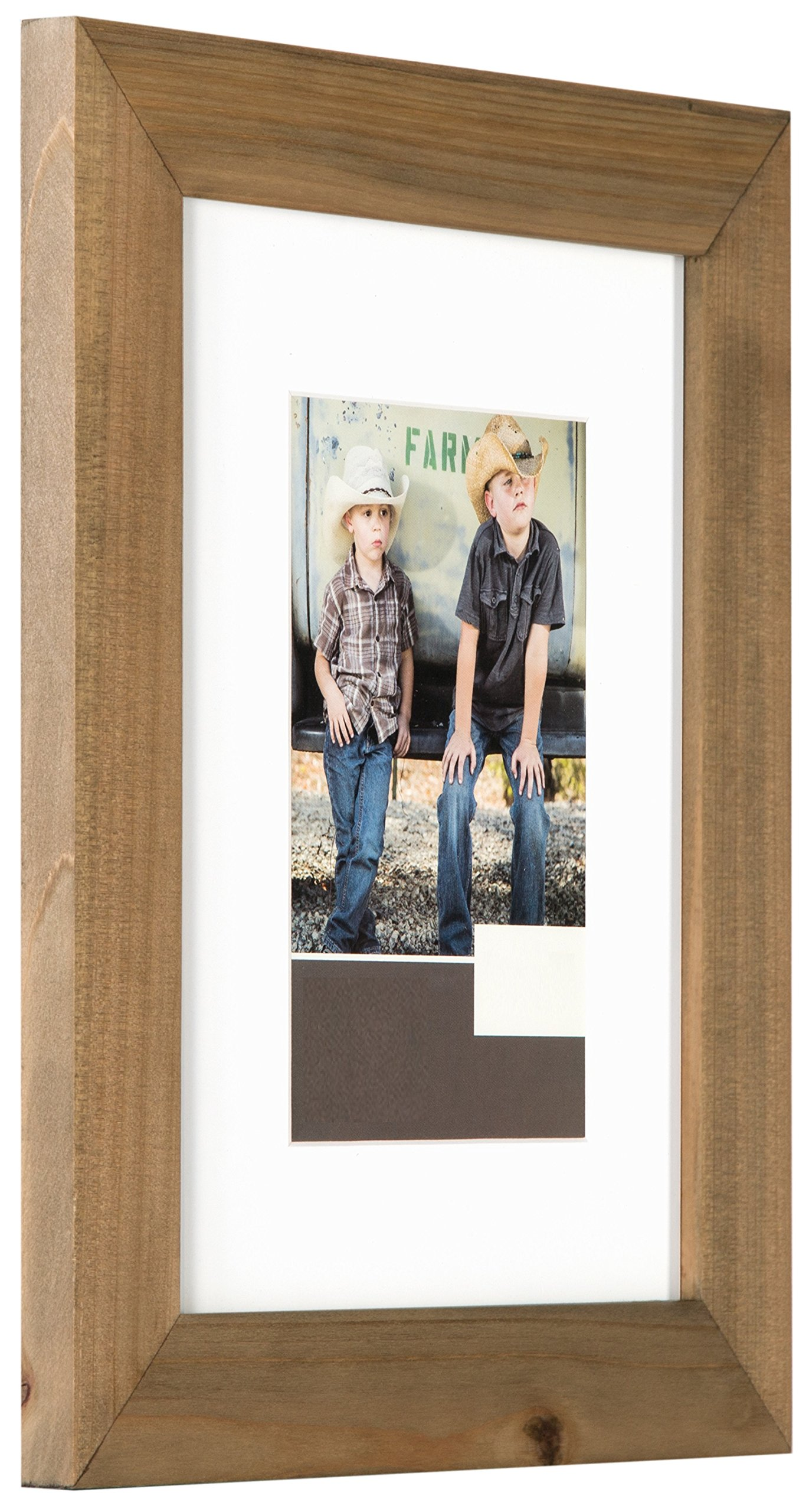 Gallery Solutions 11x14 Flat Ash Wood Wall Picture Frame with White Mat For 8x10 Image by Gallery Solutions (Image #3)