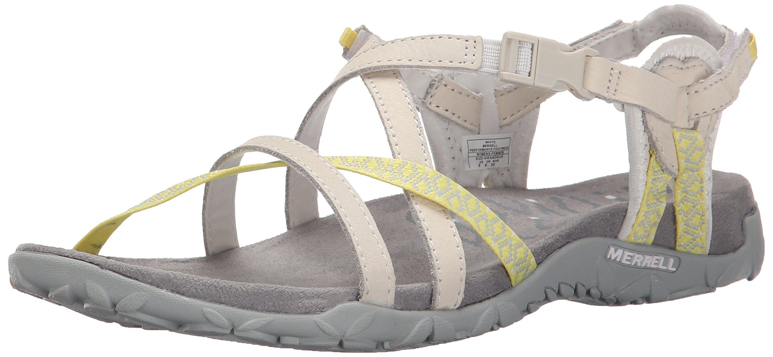 Merrell Women's Terran Lattice II Sandal, White, 9 M US