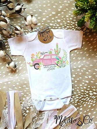 e9d1e9628b10 Amazon.com  Infant Cactus Onesie Cute Cactus One Piece Boho Baby Outfit  Baby Girl Cactus Top Trendy Cactus Onesie Sweet Baby Girl Outfit Southwest  Baby 3-6 ...