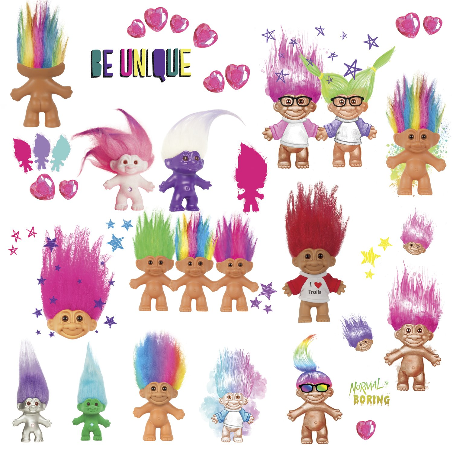 Roommates Good Luck Trolls Peel And Stick Wall Decals