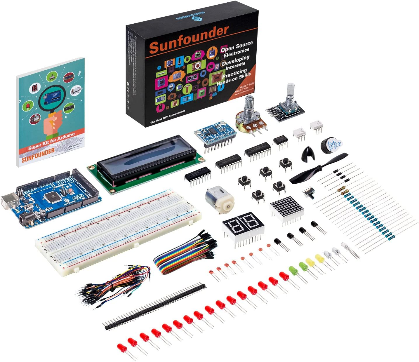 SUNFOUNDER Project Super Starter Kit with Tutorial Book for Arduino UNO R3 Mega2560 Mega328 Nano (with Mega 2560): Amazon.es: Electrónica