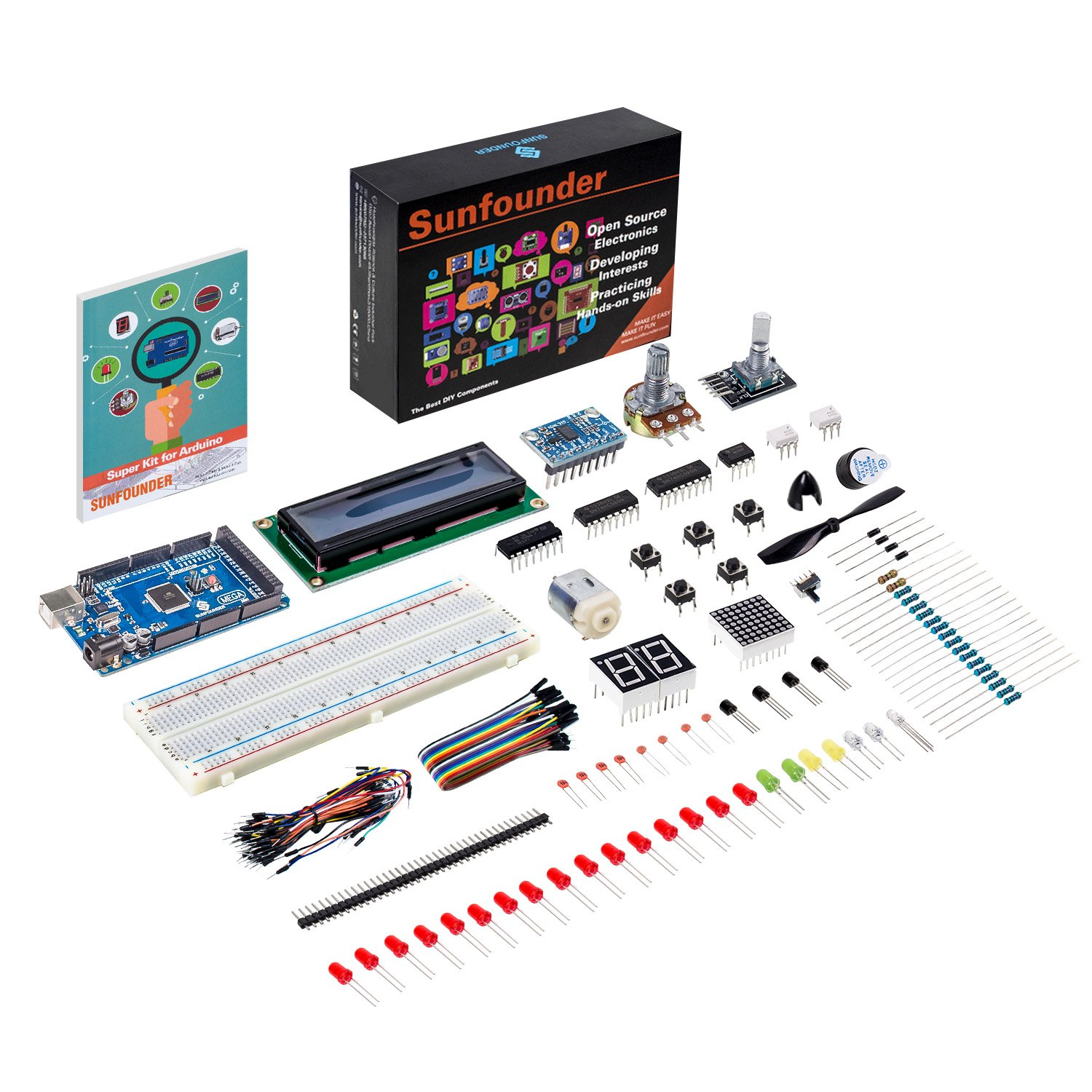 Sunfounder Mega 2560 R3 Project Super Starter Kit For Arduino Uno Pin Diagram Find A Guide With Wiring Mega2560 Mega328 Nano Including 73 Page Instructions Book Computers