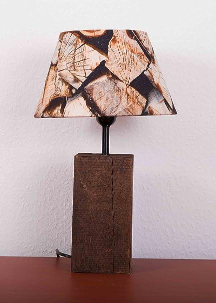 Mars & More lámpara pantalla Leños/leña 25 cm (piel, acero ...
