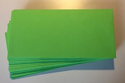 25 buste per lettera chiusura autoadesiva 220 x 110 mm verde chiaro verde menta