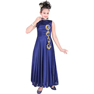 b957ab29877f BENKILS Cute Fashion Baby Girl s Bright Satin Lycra Dresses for ...