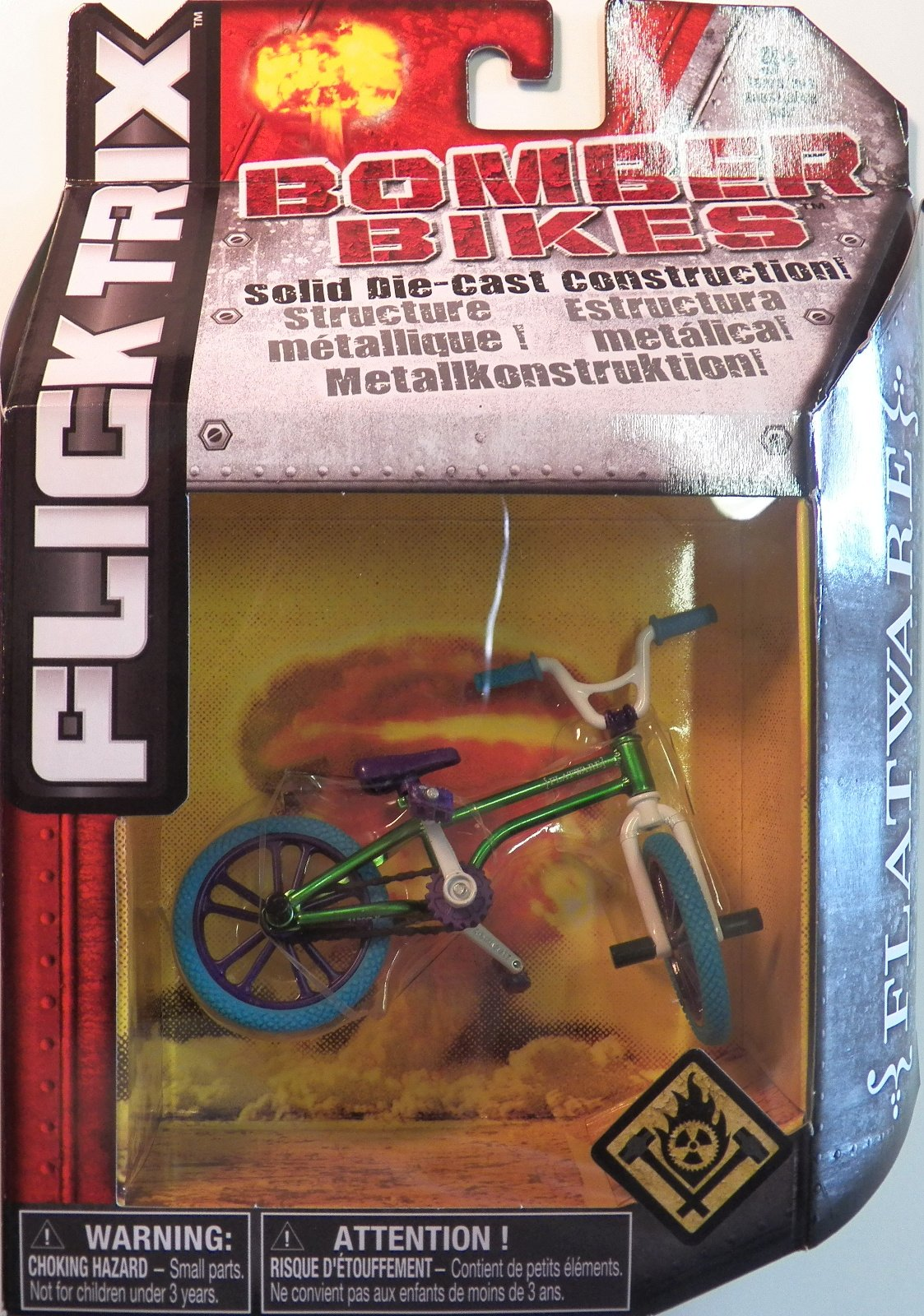 Flick Trix Die-cast Bomber Bikes - Flatware (Green, Purple, Blue, White)