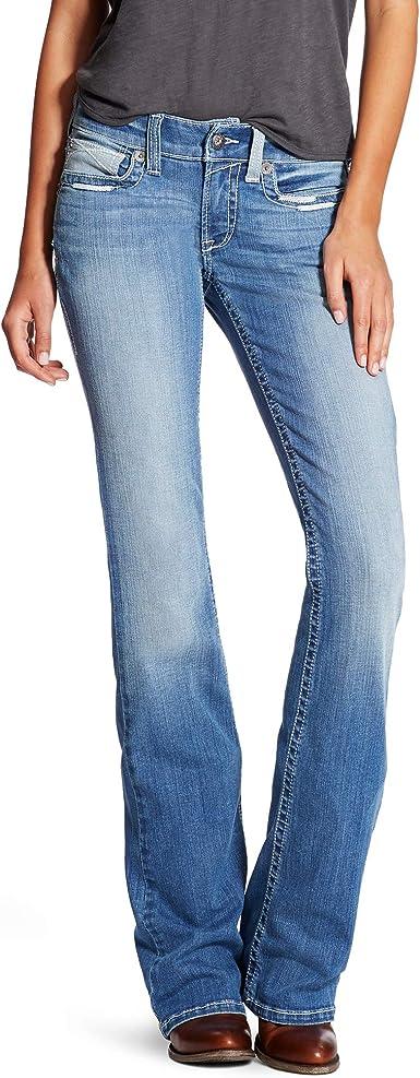 Amazon Com Ariat R E A L Para Mujer Jeans De Corte De Bota Y De Talle Medio Clothing