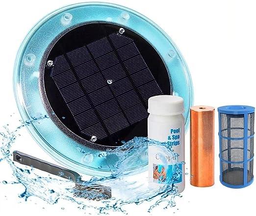 Original Solar Pool Ionizer | 85% Less Chlorine | Lifetime Replacement  Warranty | Kill Algae in Pool | High efficiency | Keeps Pool Cleaner and ...