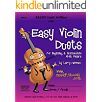 Easy Violin Duets: for Beginning and Intermediate Violin Players book cover