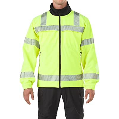 5.11 Tactical Men's Reversible High Vis Softshell Jacket, Wind/Water Repellant, Style 48171: Clothing