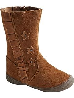 8c9a2a2ef27a8 Vertbaudet Boots Cuir Fille élastique côté  Amazon.fr  Chaussures et ...
