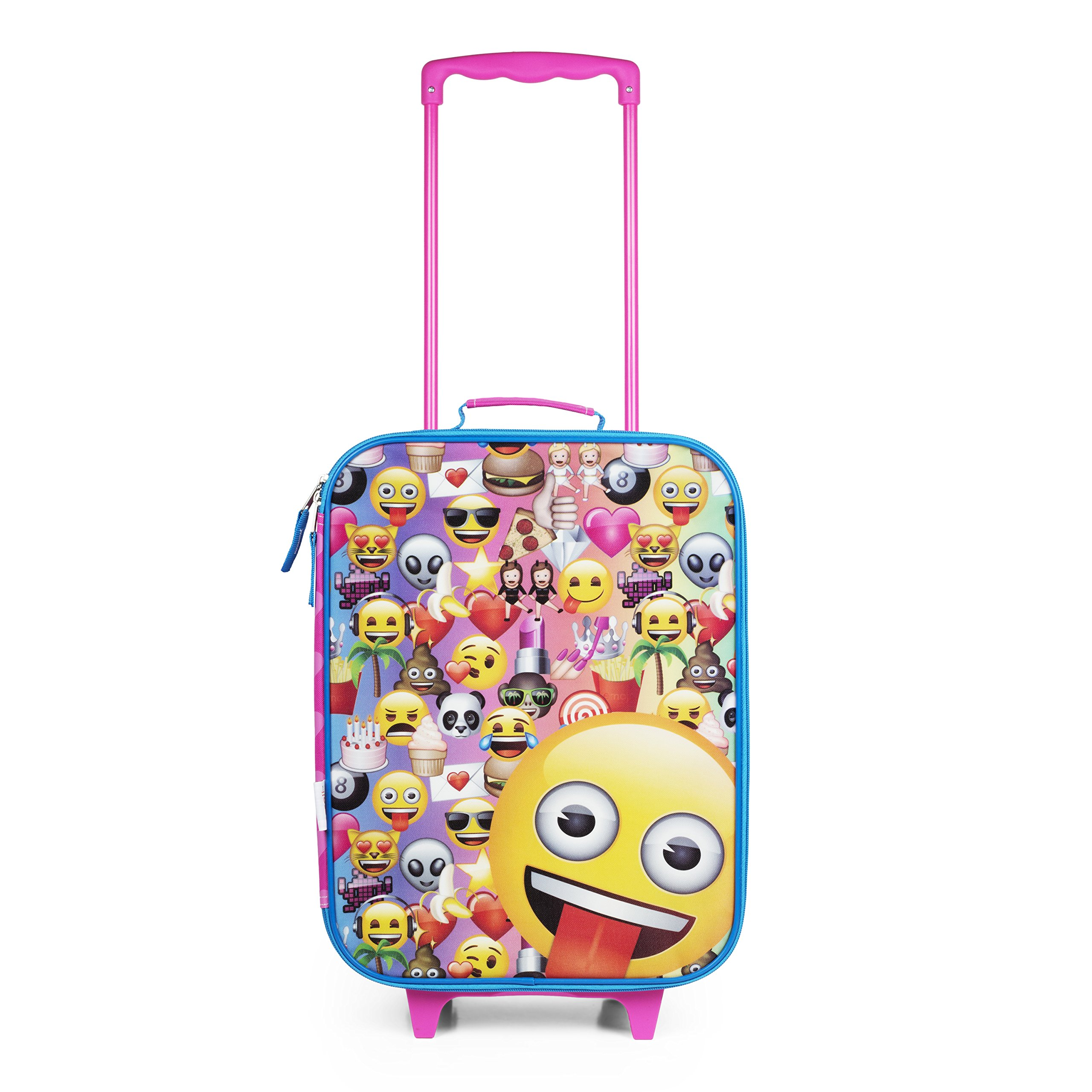 Emoji Pink Rainbow Faces Pilot Case Luggage by FAB Starpoint (Image #1)