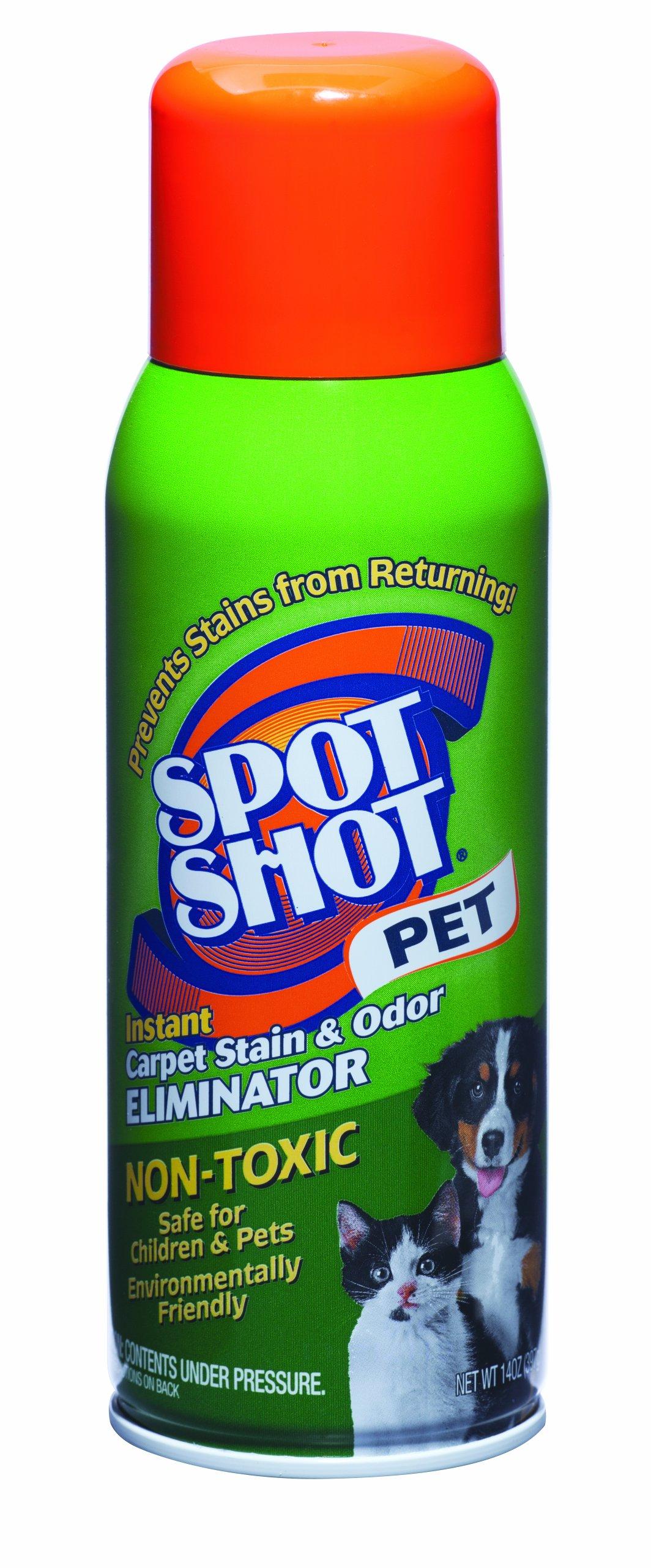 Spot Shot 009208 Non-Toxic Pet Instant Carpet Stain Remover 14 oz Aerosol (Pack of 6) by Spot Shot